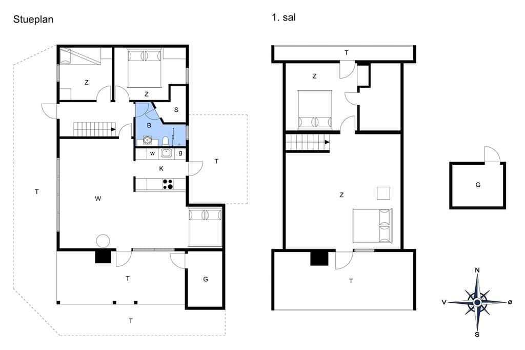 Indretning 1-11 Sommerhus 0147, Gl Skinnevej 8, DK - 6792 Rømø