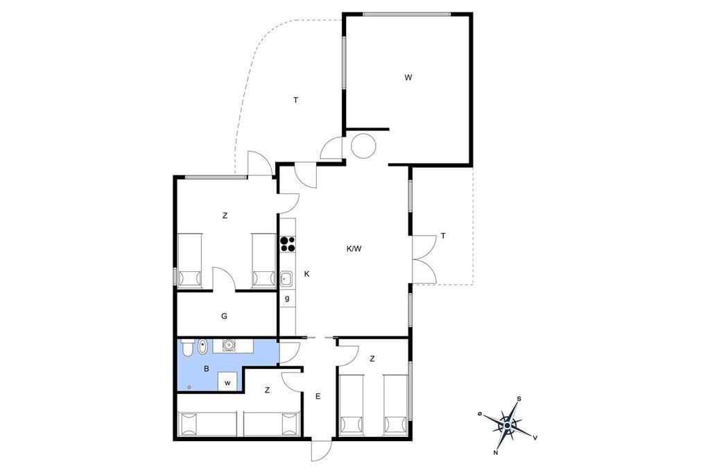 Innenausstattung 1-19 Ferienhaus 30059, Ajstrup Strandvej 190, DK - 8340 Malling