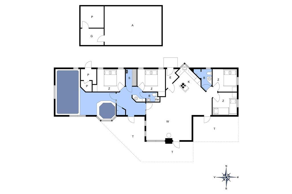 Innenausstattung 1-173 Ferienhaus BV110, Gl Hovej 39, DK - 6857 Blåvand