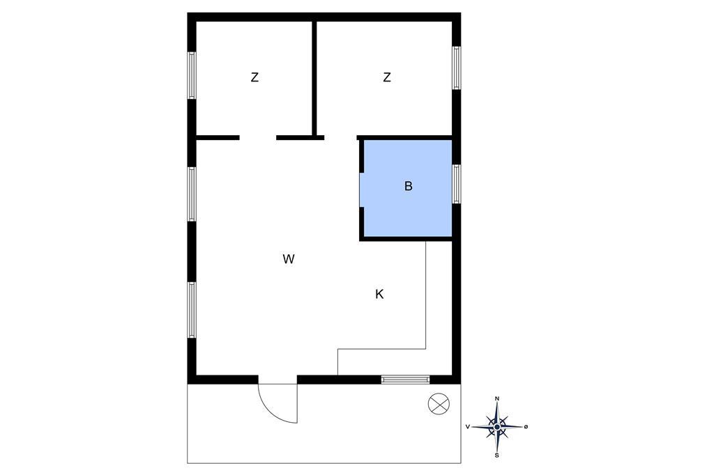 Innredning 1-10 Feirehus 3617, Sandkrogen 8, DK - 3730 Nexø
