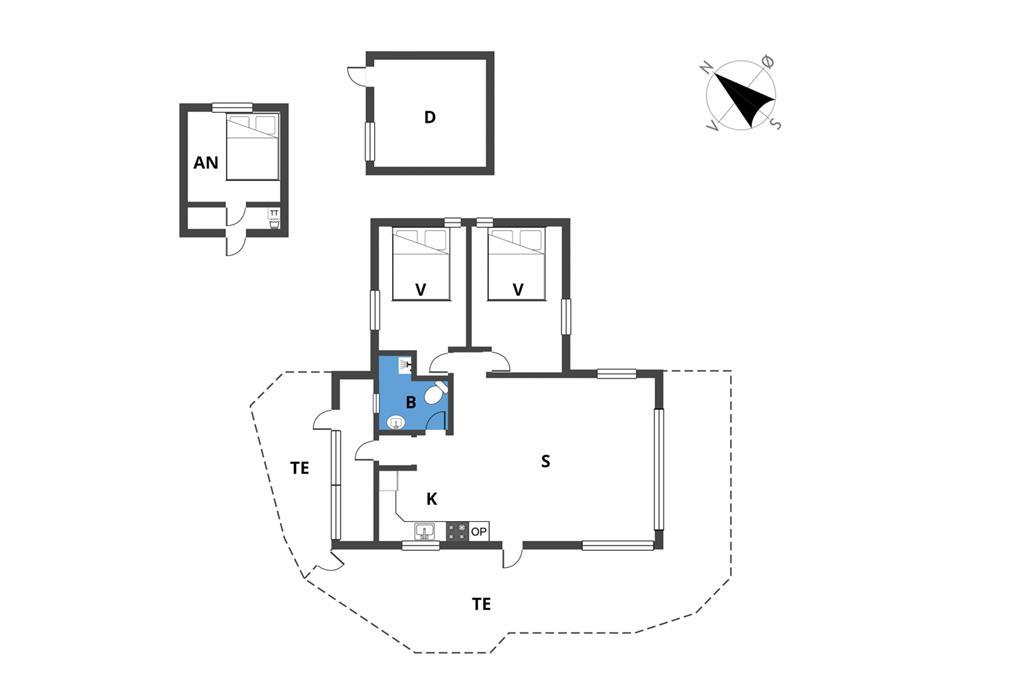 Interieur 1-19 Vakantiehuis 40328, As Hedegaard 80, DK - 7130 Juelsminde