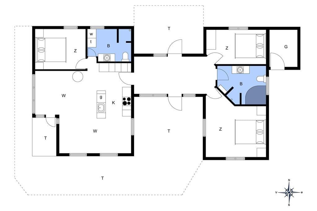 Indretning 1-14 Sommerhus 629, Grindevej 23, DK - 9480 Løkken