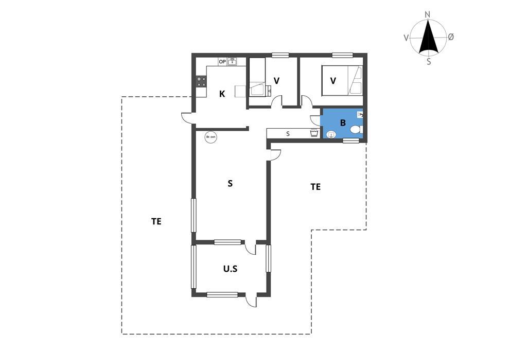 Innenausstattung 1-19 Ferienhaus 30329, Lyngbakkevej 20, DK - 8300 Odder