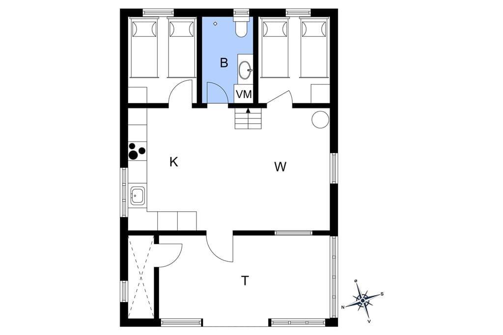 Interieur 1-3 Vakantiehuis F300241, Laksestien 19, DK - 6933 Kibæk