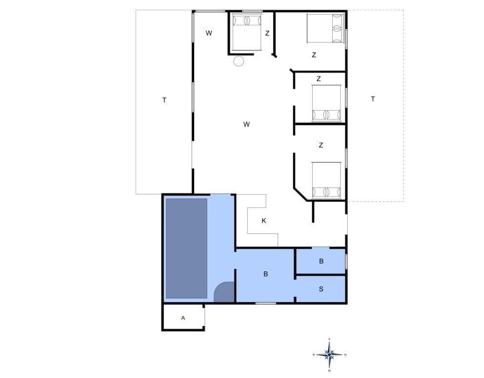 Indretning 1-4 Sommerhus 354, Fyrmarken 24, DK - 6960 Hvide Sande