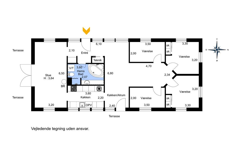 Innenausstattung 1-23 Ferienhaus 8207, Engblommevej 24, DK - 8420 Knebel