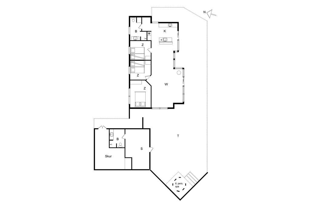 Interior 1-14 Holiday-home 425, Tippen 22, DK - 9493 Saltum