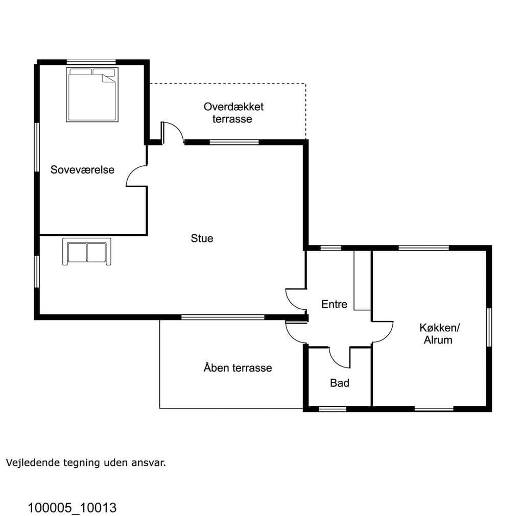 Indretning 1-17 Sommerhus 10013, Hybenvej 24, DK - 4500 Nykøbing Sj