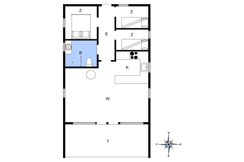 Indretning 1-4 Sommerhus 494, Tingodden 465, DK - 6960 Hvide Sande