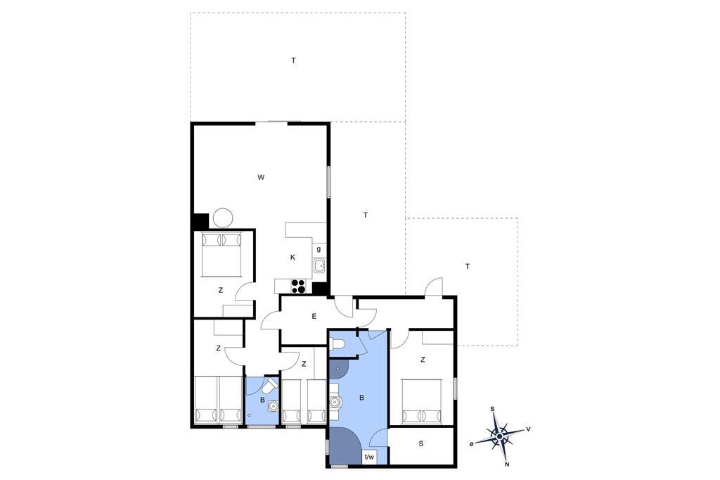 Interieur 1-22 Vakantiehuis C11160, Tranevænget 18, DK - 6893 Hemmet
