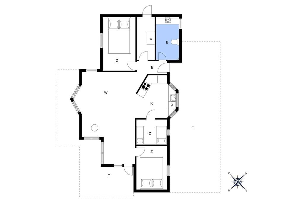 Innenausstattung 1-13 Ferienhaus 666, Bakkesiden 5, DK - 7760 Hurup Thy