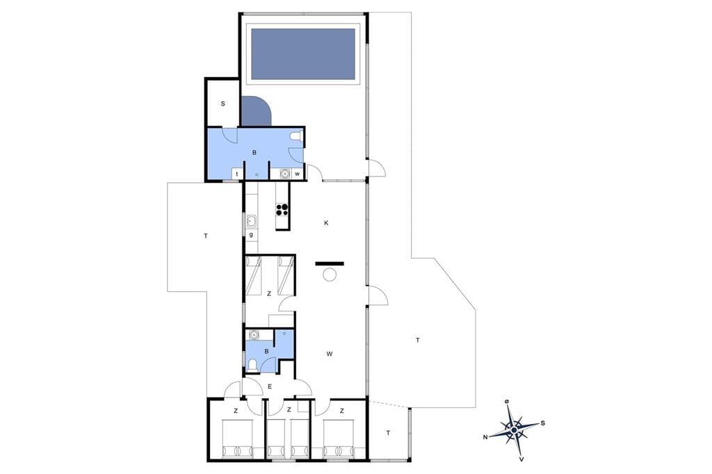 Interieur 1-14 Vakantiehuis 738, Graabakken 53, DK - 9493 Saltum