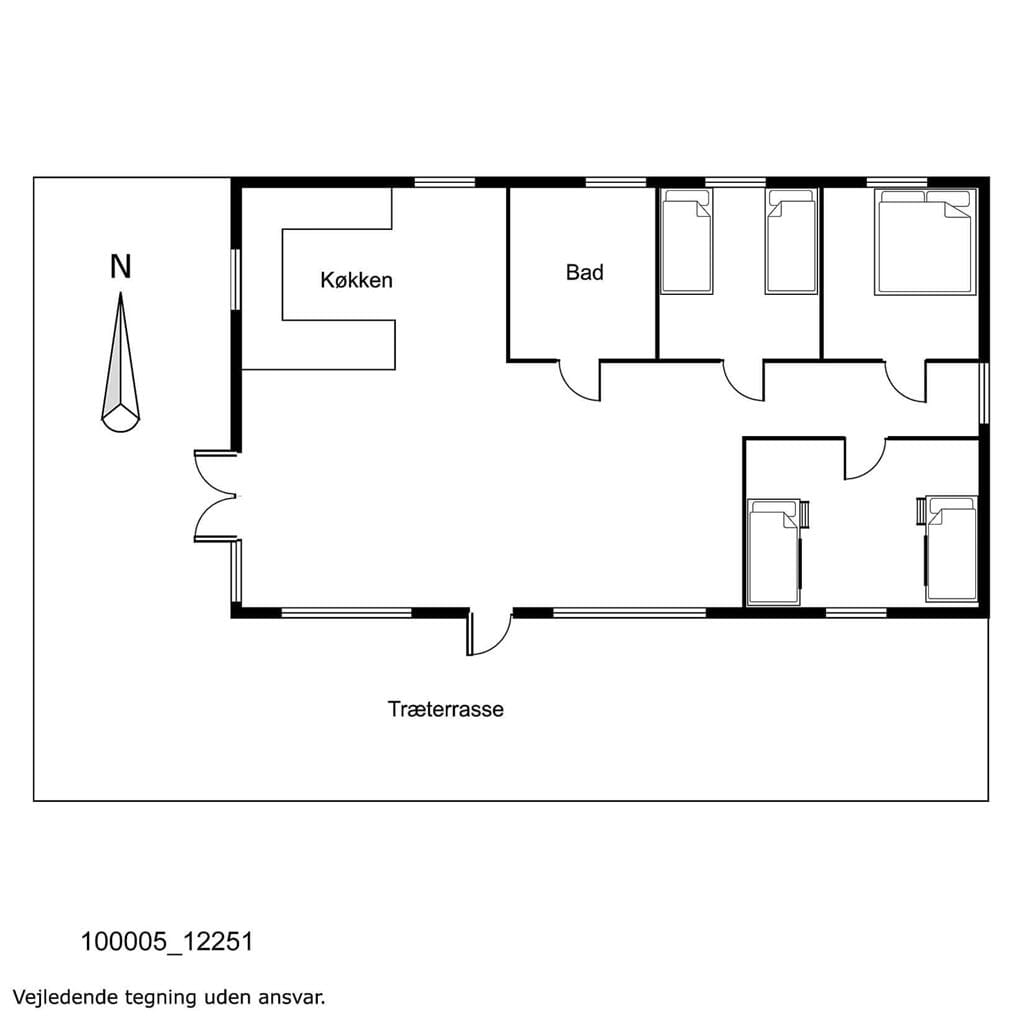 Innenausstattung 1-17 Ferienhaus 12251, Bülowsvej 9, DK - 4583 Sjællands Odde