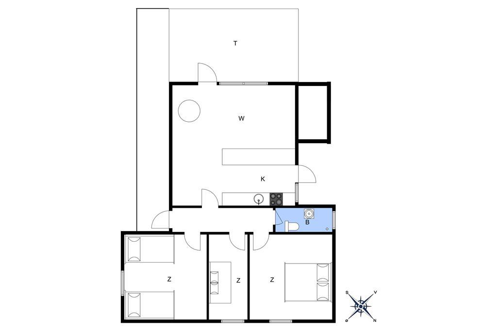 Indretning 1-10 Sommerhus 1410, Strandløkken 3, DK - 3720 Aakirkeby