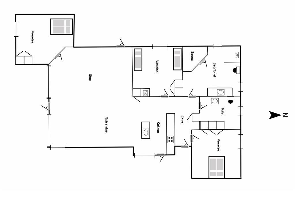 Indretning 1-125 Sommerhus 2130, Hjelmevej 47, DK - 6854 Henne