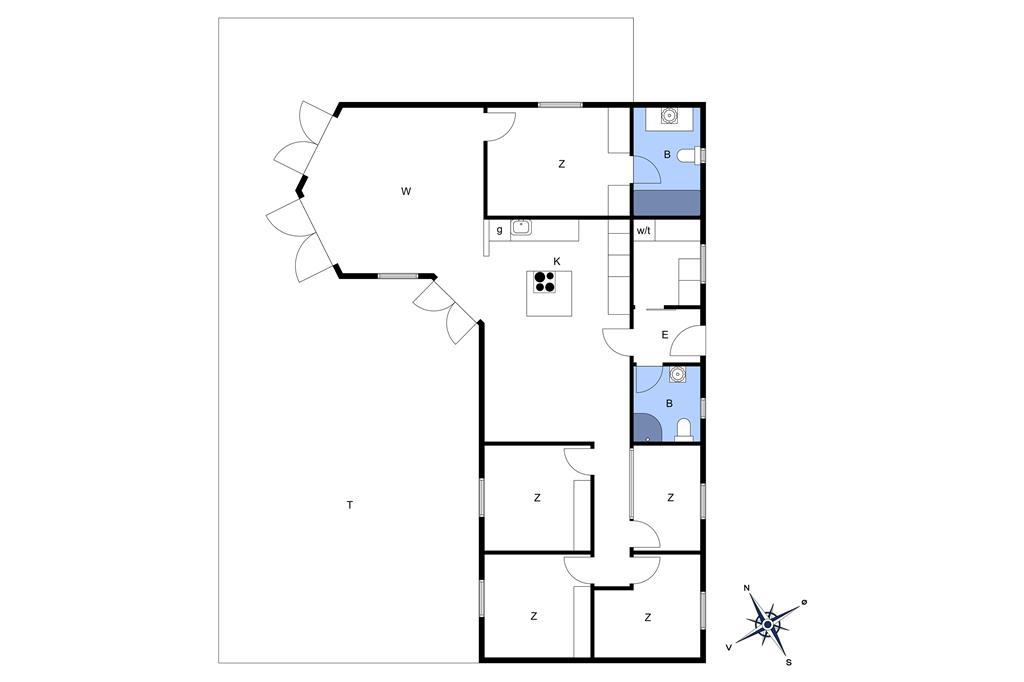 Indretning 1-17 Sommerhus 17703, Teglværksvej 14, DK - 4534 Hørve