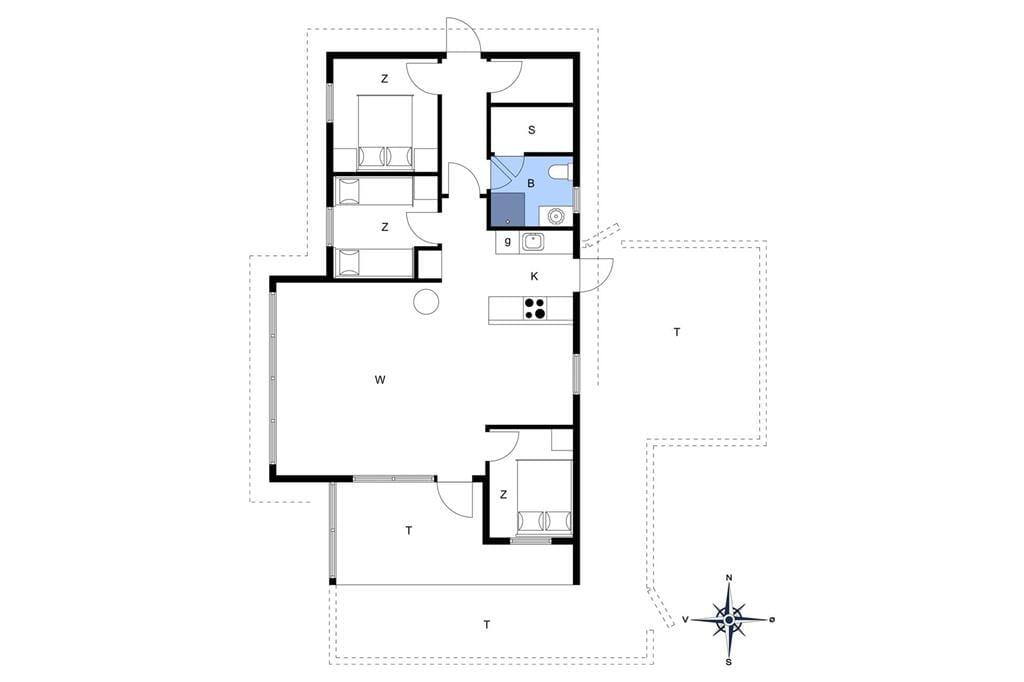 Innenausstattung 1-176 Ferienhaus BL1682, Rødhus Skolevej 24, DK - 9490 Pandrup