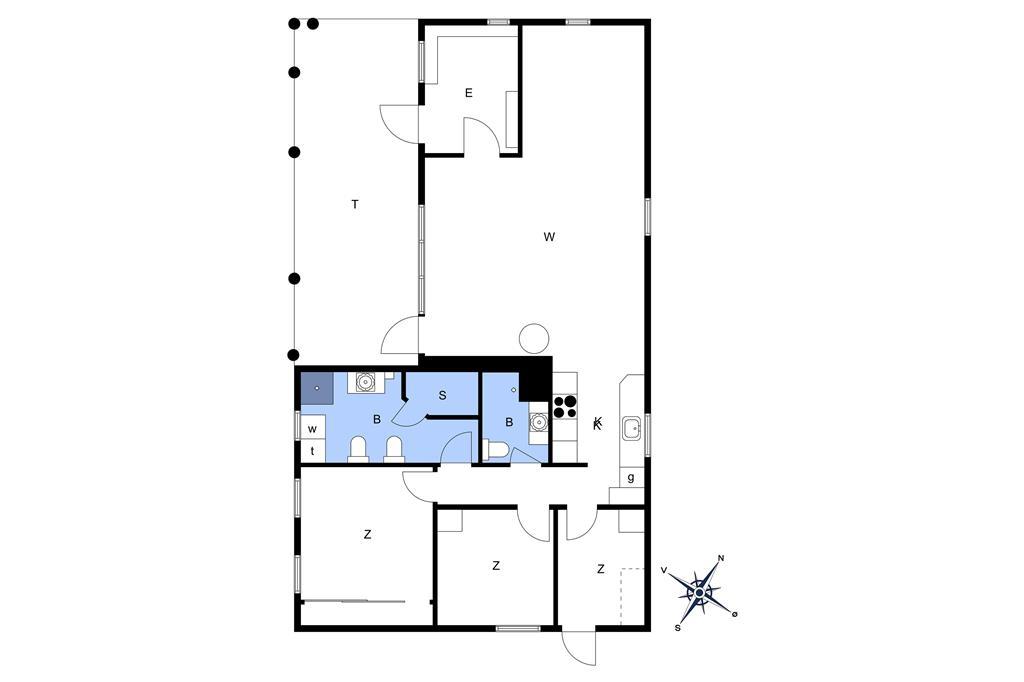Indretning 1-174 Sommerhus M14005, Angelikvej 7, DK - 4873 Væggerløse