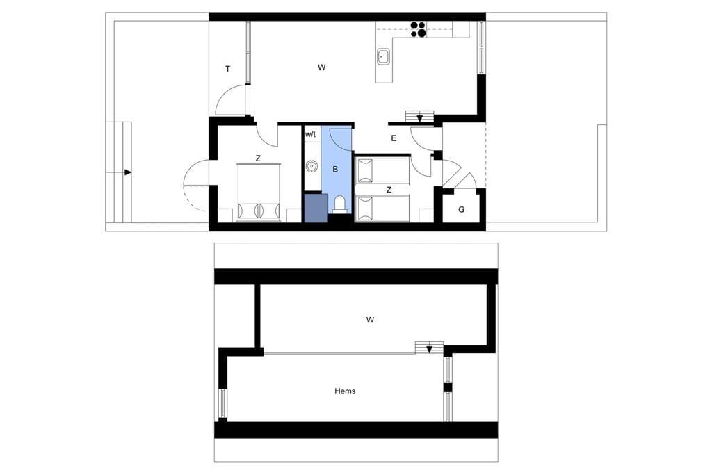 Indretning 1-4 Sommerhus 903, Langsand 94, DK - 6960 Hvide Sande