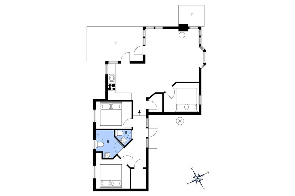 Indretning 1-10 Sommerhus 6676, Sdr. Strandvej 122, DK - 3770 Allinge