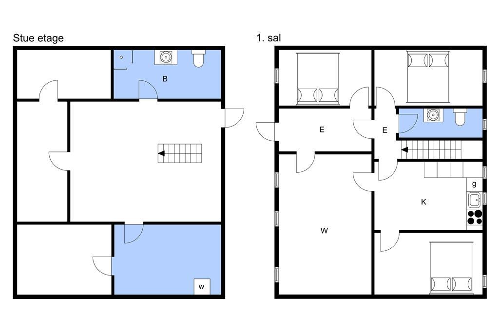 Indretning 1-3 Sommerhus M66160, Broholmsvej 35, DK - 5884 Gudme