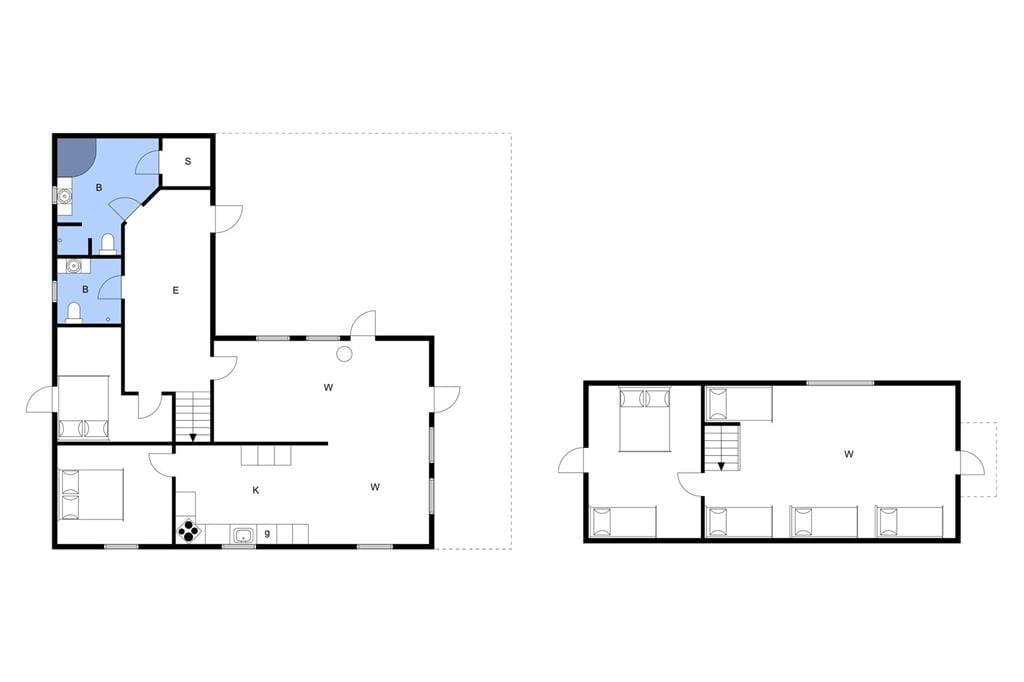 Indretning 1-3 Sommerhus L15175, Mosevej 6, DK - 7840 Højslev