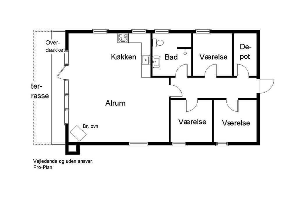 Inredning 1-170 Stuga 20207, Rosenvej 60, DK - 8305 Samsø