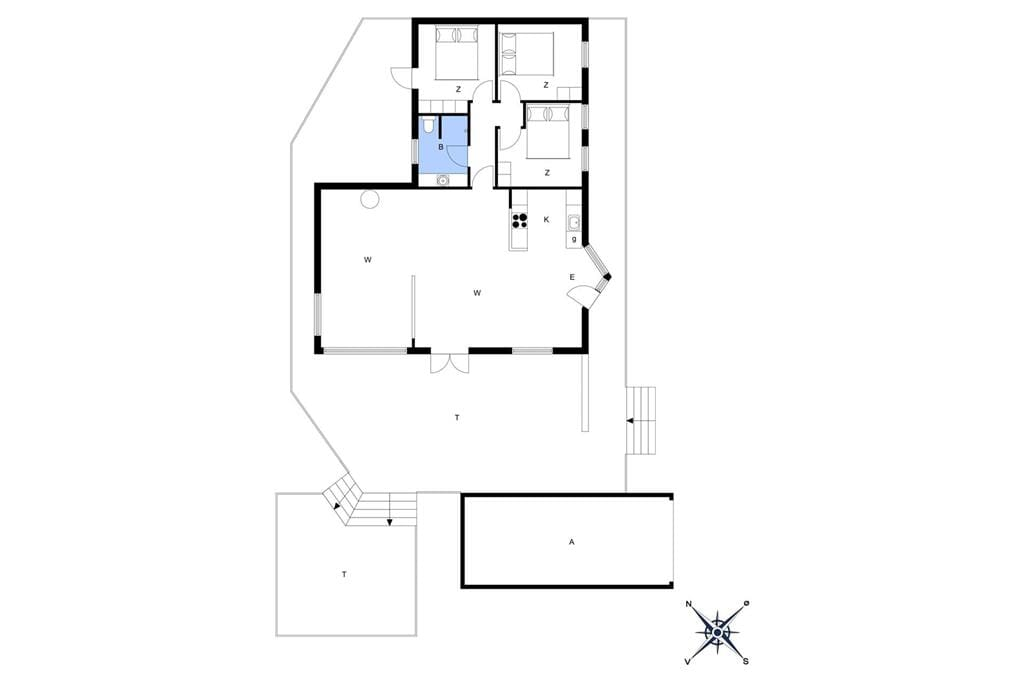 Indretning 1-14 Sommerhus 1156, Ankerhusvej 44, DK - 9492 Blokhus