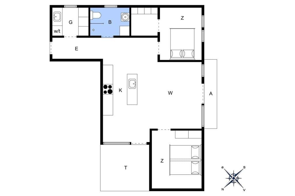 Indretning 1-4 Sommerhus 797, Strandgade 6, DK - 6960 Hvide Sande