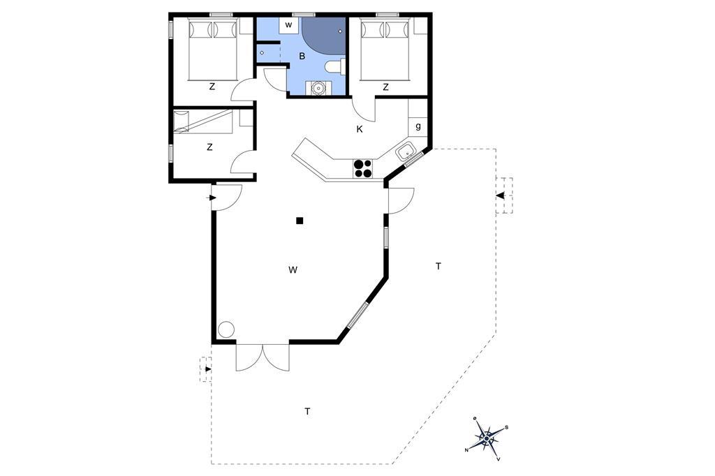 Indretning 1-6 Sommerhus N106, Krageholmsvej 97, DK - 4736 Karrebæksminde