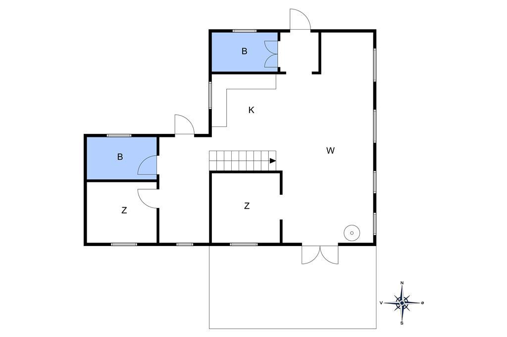 Innredning 1-10 Feirehus 5631, Gadegårdsvejen 3, DK - 3730 Nexø