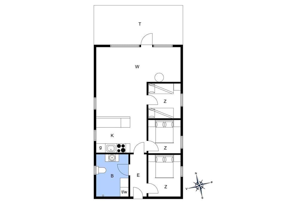 Interieur 1-20 Vakantiehuis 182, Vejlby Klit 153, DK - 7673 Harboøre