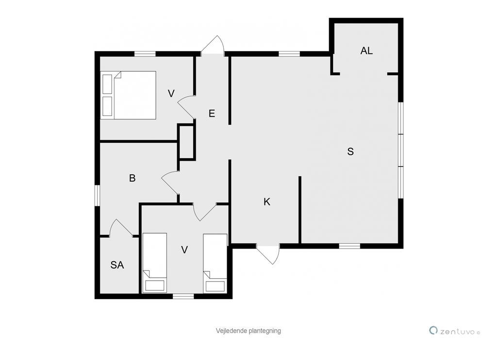 Indretning 1-19 Sommerhus 30306, Hougaardsvej 6, DK - 8300 Odder