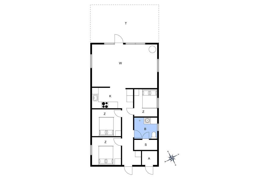 Indretning 1-22 Sommerhus C11190, Vibevænget 9, DK - 6893 Hemmet