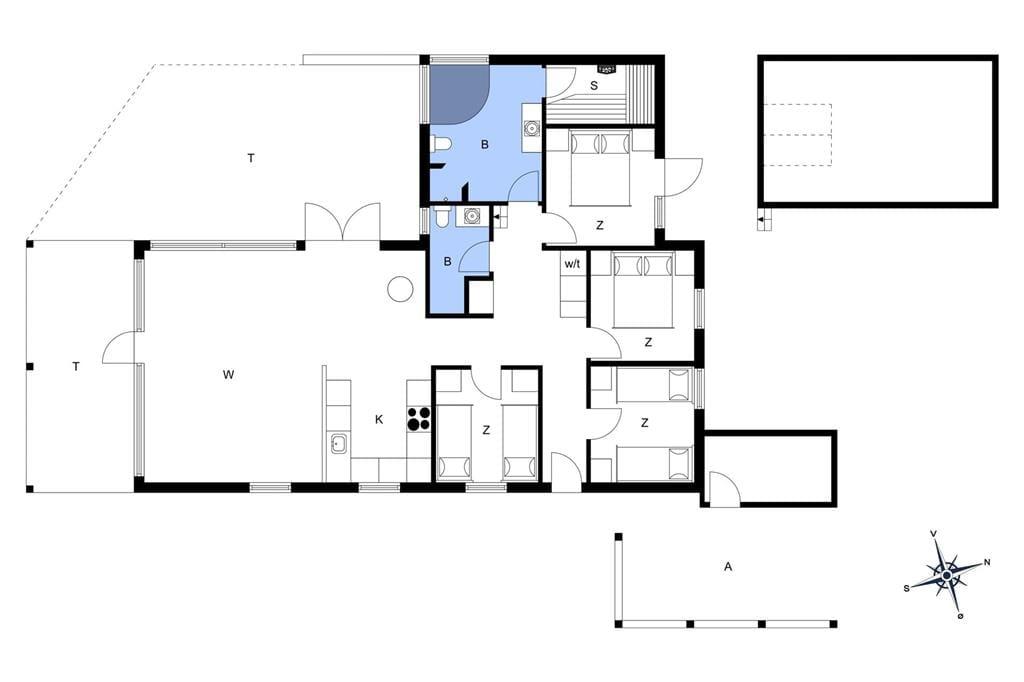 Indretning 1-6 Sommerhus N160, Løvsangervej 7, DK - 4736 Karrebæksminde