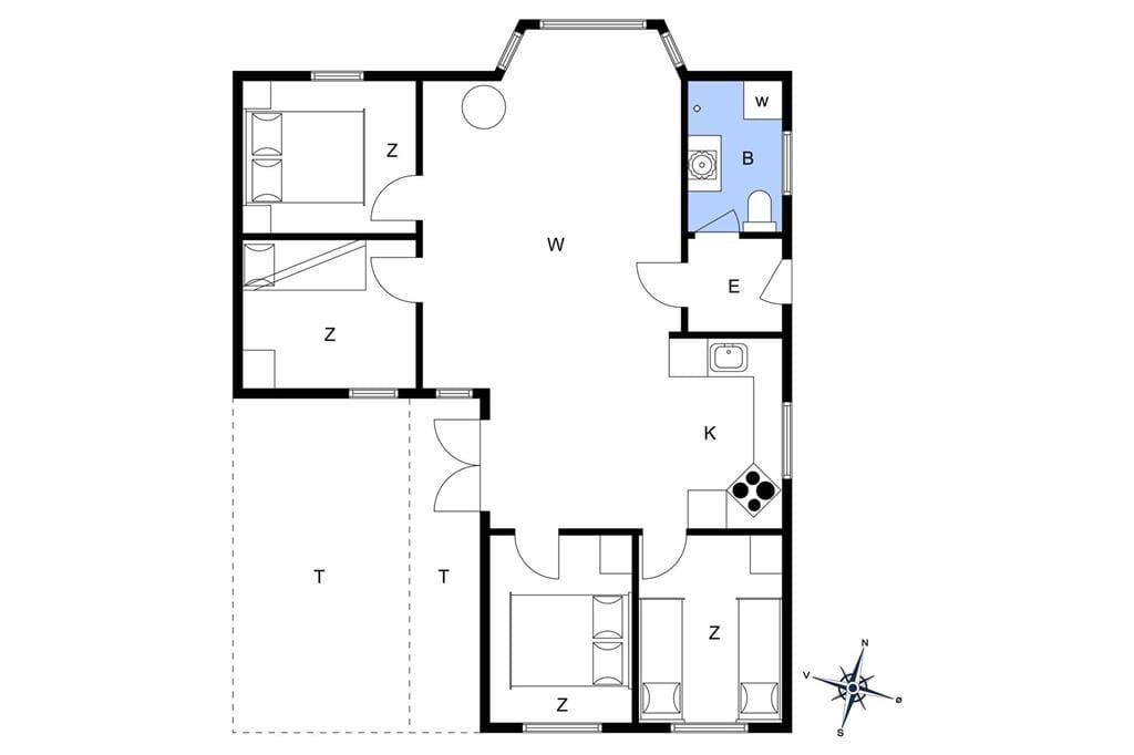 Indretning 1-19 Sommerhus 30599, Spongsvej 21, DK - 8300 Odder
