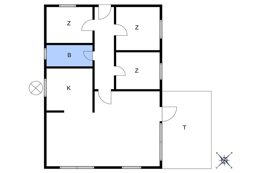 Innredning 1-10 Feirehus 2513, Klitvej 2, DK - 3730 Nexø