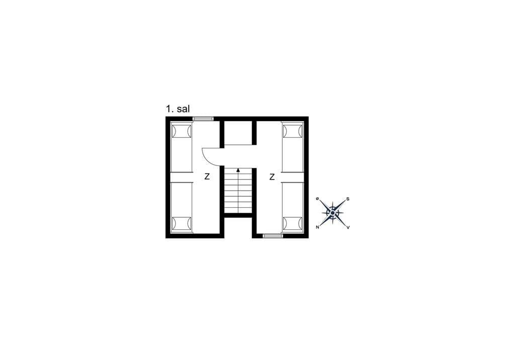 Indretning 1-10 Sommerhus 6791, Æblevej 2, DK - 3770 Allinge