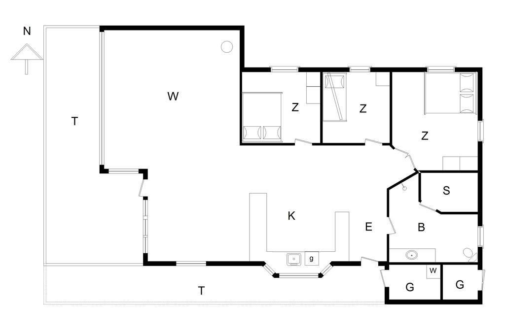 Interieur 1-14 Vakantiehuis 230, Rødhus Skolevej 8, DK - 9490 Pandrup