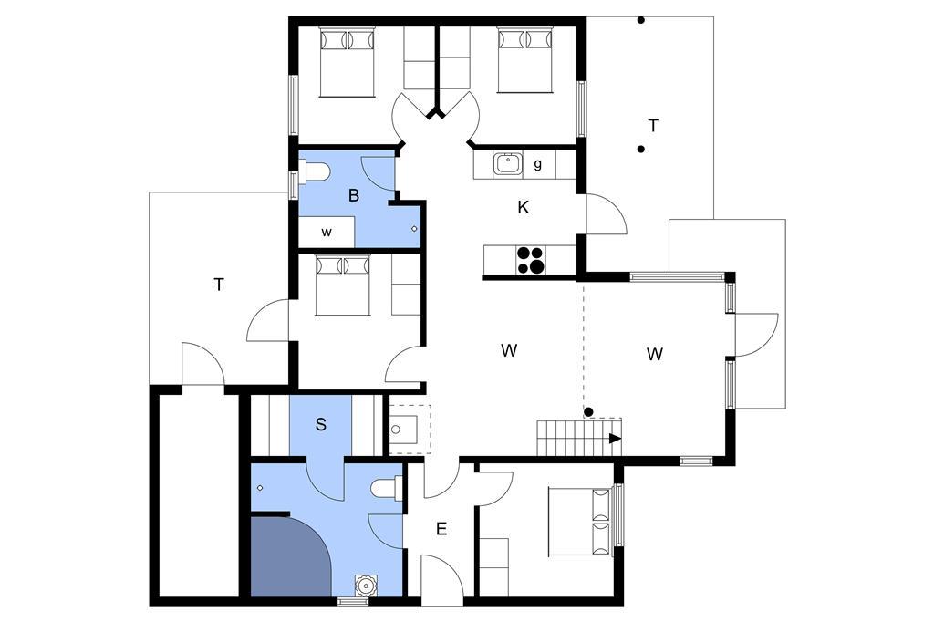 Indretning 1-3 Sommerhus M65910, Mosegården 27, DK - 5600 Faaborg