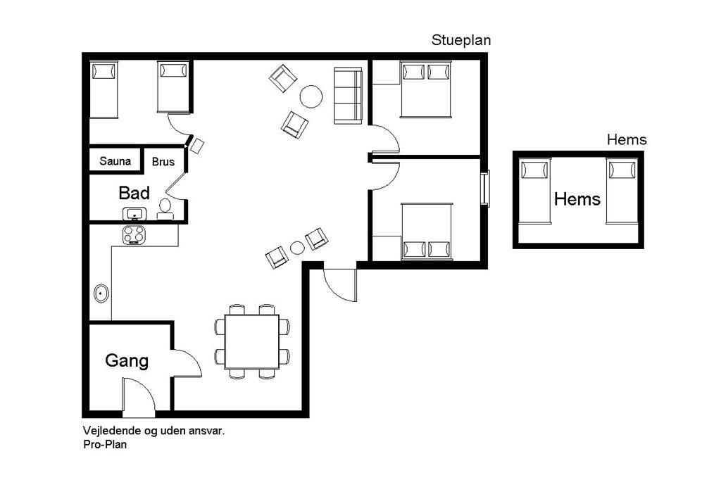 Indretning 1-22 Sommerhus C11307, Rørsangervænget 1, DK - 6880 Tarm