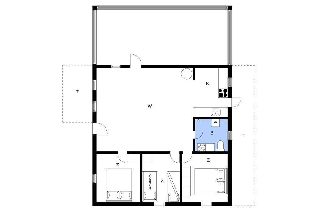 Indretning 1-23 Sommerhus 8515, Birkevej 10, DK - 8500 Grenaa