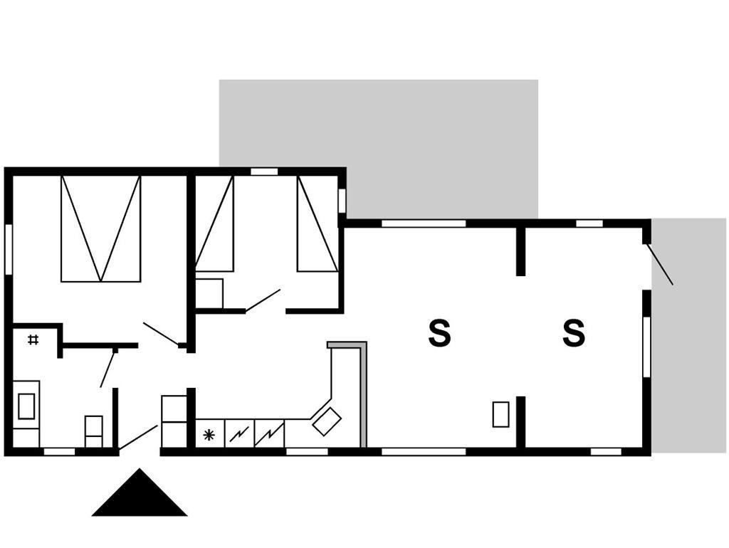 Indretning 1-175 Sommerhus 50021, Bjerghuse 94, DK - 6990 Ulfborg