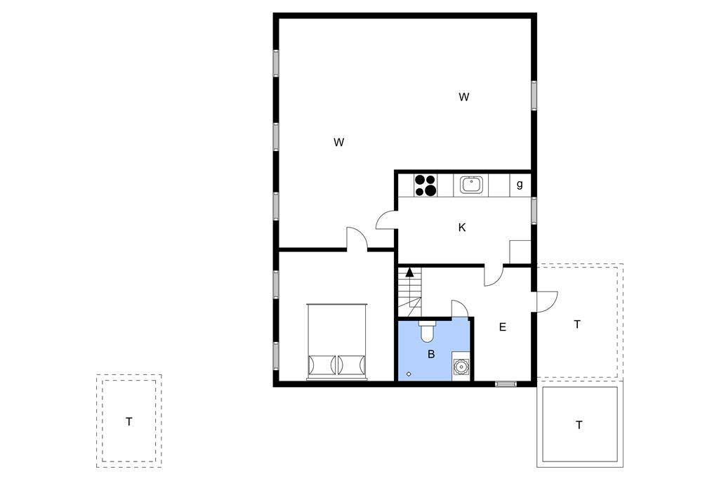 Indretning 1-3 Sommerhus L16307, Brusåvej 33, DK - 9240 Nibe