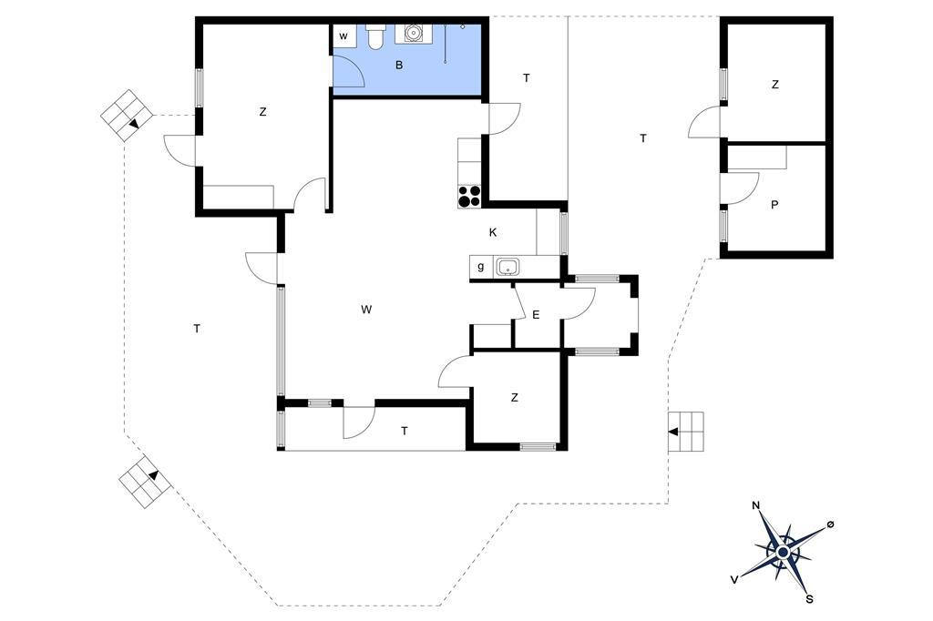 Inredning 1-17 Stuga 13383, Glentevej 15, DK - 4550 Asnæs
