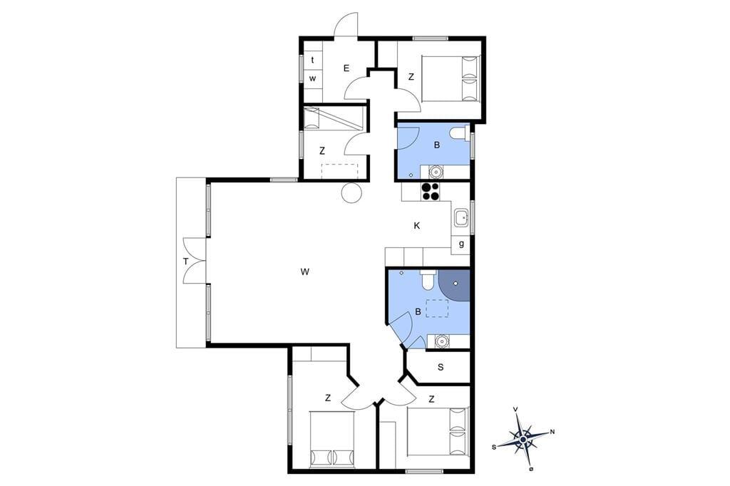 Indretning 1-174 Sommerhus M15013, Klintevej 3, DK - 4873 Væggerløse