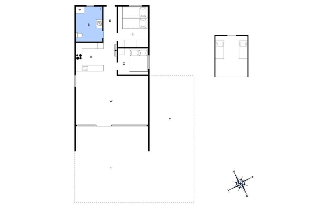 Innenausstattung 1-4 Ferienhaus 220, Fladsbjergvej 25, DK - 6950 Ringkøbing