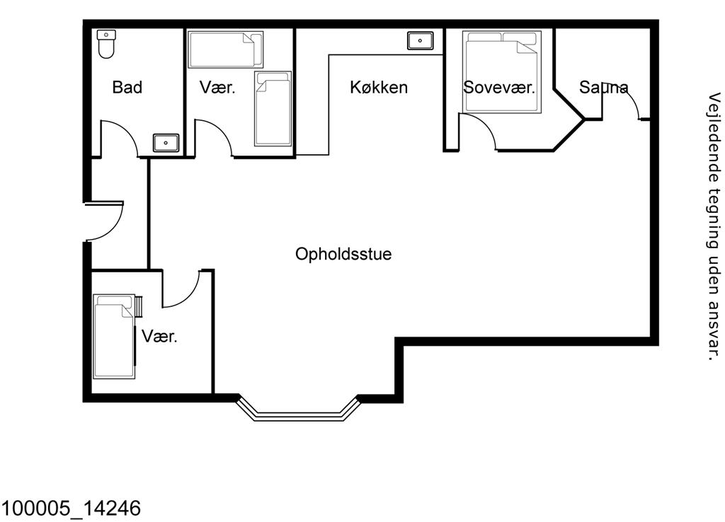 Indretning 1-17 Sommerhus 14246, Egenæs Vænge 42, DK - 4571 Grevinge
