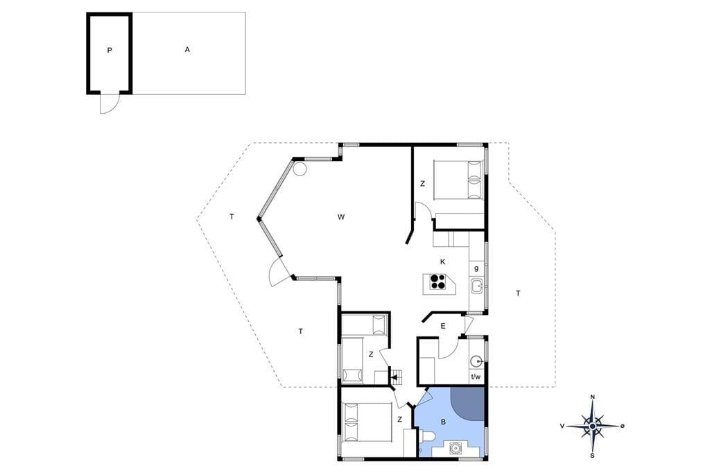 Indretning 1-401 Sommerhus OH210, Sellegaarde Vest 32, DK - 9560 Hadsund