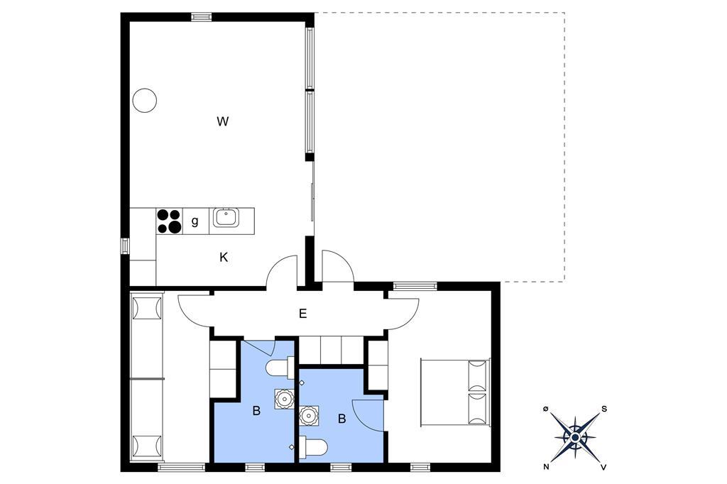 Indretning 1-3 Sommerhus M642756, Oddevejen 8, DK - 5500 Middelfart